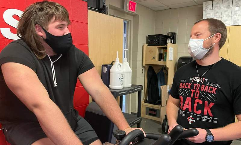 Head Athletic Trainer Peter Benjamin and his team help keep athletes going strong in tough times.