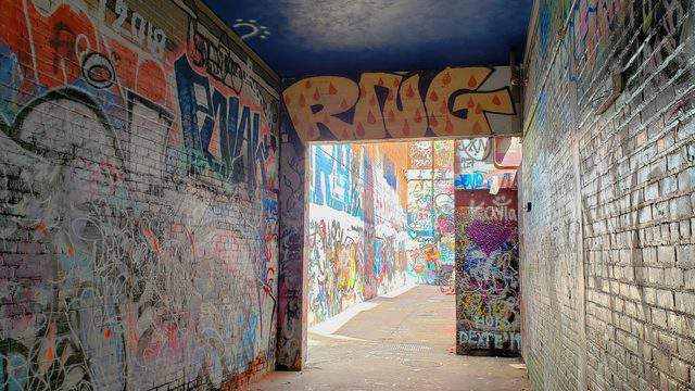 Graffiti Ally is located on E. Liberty St. between Encore Records and the Michigan Theater. Photo | Sarah M. Parlette