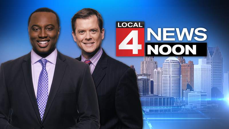 Evrod Cassimy and Brandon Roux on Local 4 News at Noon.