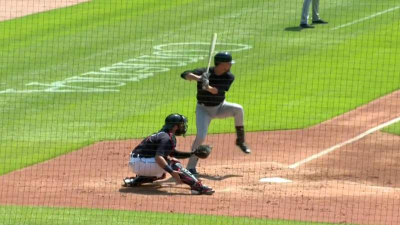 Jordy Mercer grounds out against Matt Boyd during Tigers intrasquad game