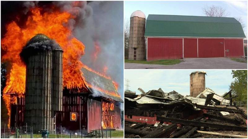 The historic Cady-Boyer Barn in Canton Township was destroyed in a May 30, 2021, fire.