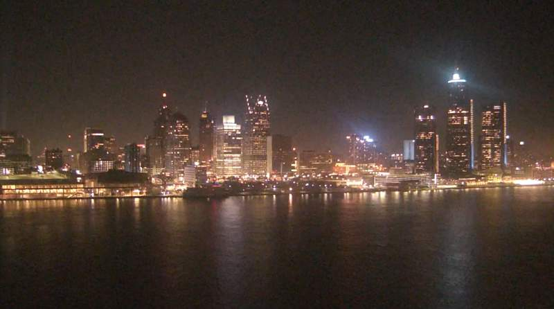 View of Detroit from the Windsor sky camera on Nov. 25, 2019 at 7:57 p.m.