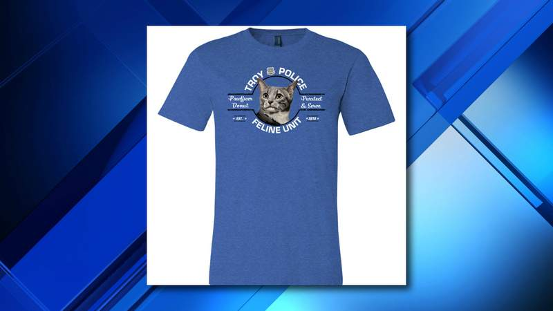 Sales of Pawfficer Donut shirts will benefit two local charities.