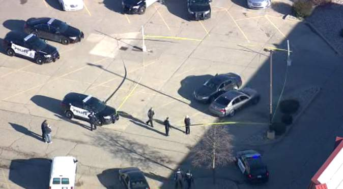 Scene of police situation in Shelby Township on Jan. 6, 2020. (WDIV)
