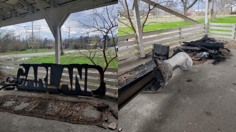 Garland Stove burned at State Fair Grounds in Detroit.