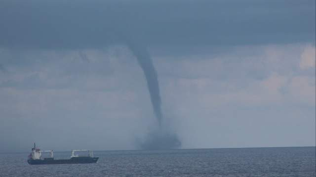 A waterspout.