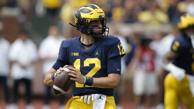 Michigan quarterback Cade McNamara plays against Western Michigan on Saturday, Sept. 4, 2021, in Ann Arbor, Mich.