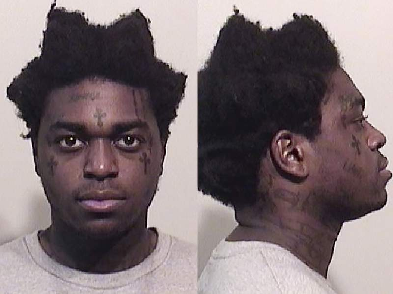 These photos provided by the Niagara County Sheriff's Office shows Bill Kapri, also known as Kodak Black. Rapper Kodak Black was sentenced to probation Wednesday, April 28, 2021 for assaulting a teenage girl in a South Carolina hotel room. (Niagara County Sheriff's Office via AP)