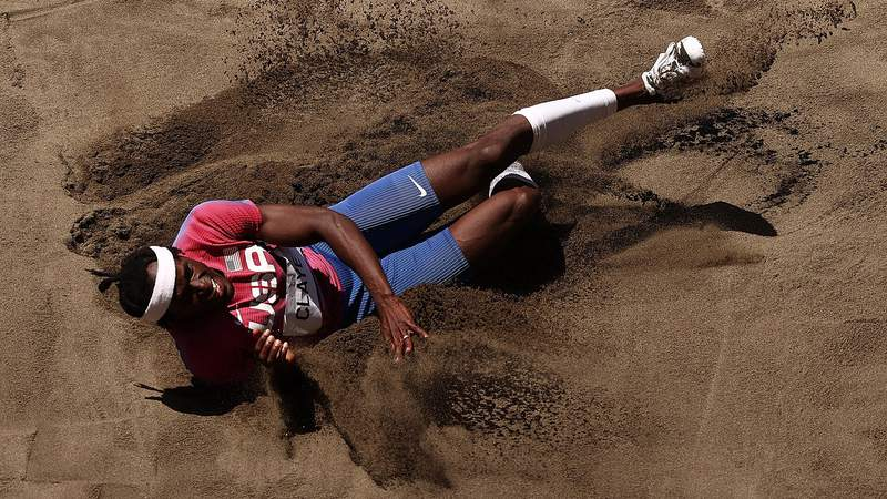 Will Claye of Team United States competes in the Men's Triple Jump Final
