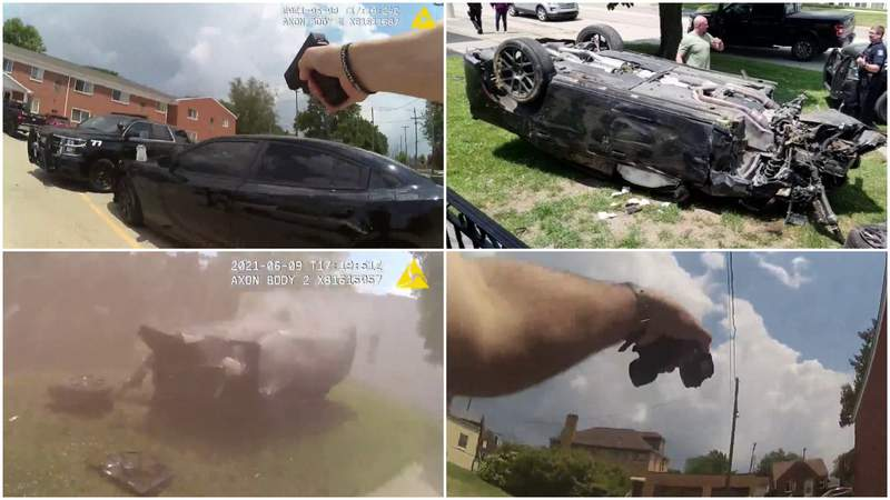Images from a Wyandotte police chase on June 9, 2021.