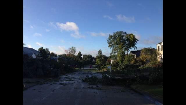 Image of Sunday, September 21, 2014, EF1 tornado damage in Rochester Hills, MI, from Noshi Karnwal.