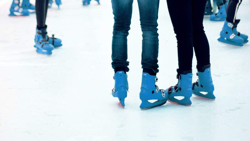 A group of ice skaters.