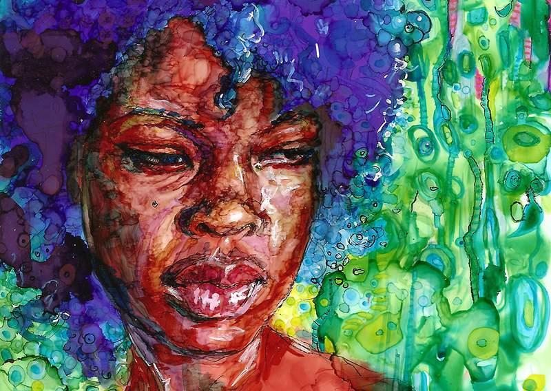 """""""Spring Blue"""" by Carolyn Garay."""