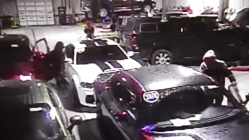 Romeo car dealership surveillance footage