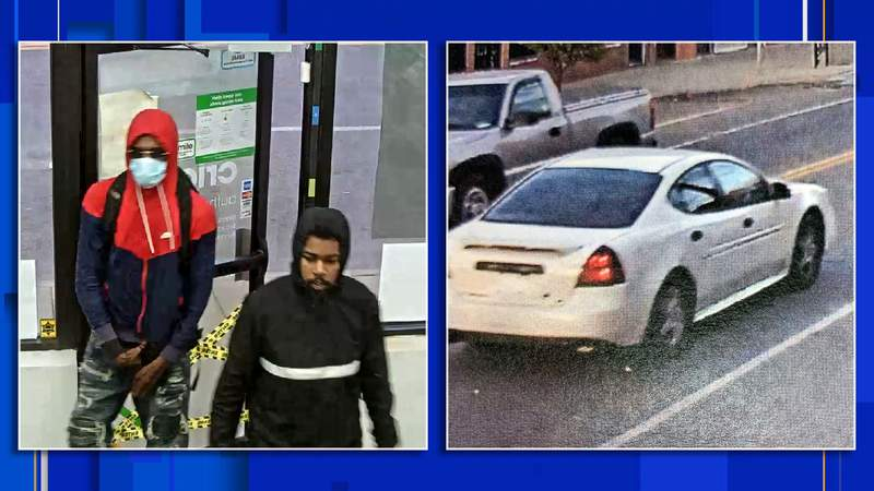 DPD are looking for two men in connection with an armed robbery on Oct. 24, 2020.