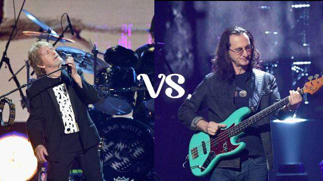 Jon Anderson (Yes) vs. Geddy Lee (Rush) -- Getty Images