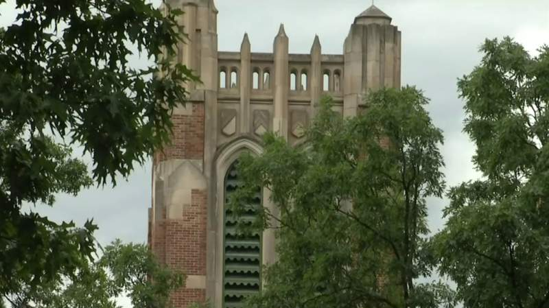 Beaumont Tower at Michigan State University in East Lansing, Mich.