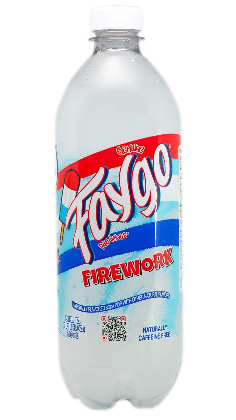 "Faygo ""Firework"" flavor."