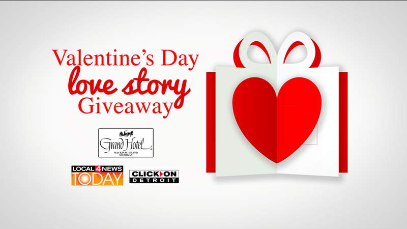 Valentine's Day giveaway on Local 4 Today.