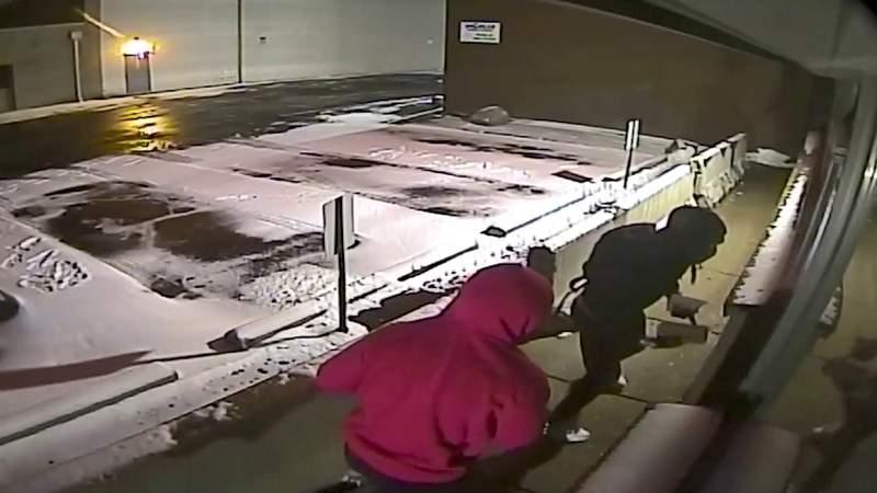 Attempted Livonia gun store burglary surveillance video