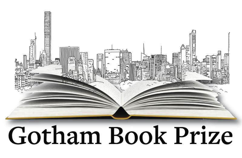 This illustration shows the logo for the newly established Gotham Book Prize. The literary award with a $50,000 cash prize will honor those best at telling a New York story. The Gotham literary prize, announced Thursday, came out of a conversation between businessman-philanthropist Bradley Tusk and political strategist Howard Wolfson. Starting next spring, the prize will be given to a book, fiction or nonfiction, published in a given calendar year that is about New York City or takes place there. (Gotham Book Prize via AP)