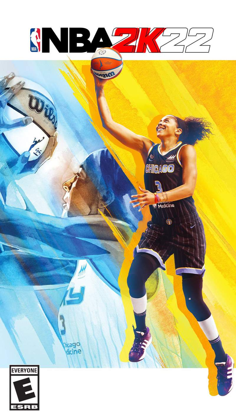 Candace Parker of the Chicago Sky on the cover of NBA 2k22.