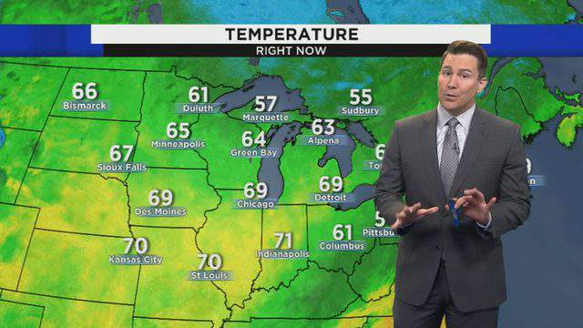 Ben Bailey takes a look at the upcoming Metro Detroit weather forecast on Oct. 7, 2019. (WDIV)