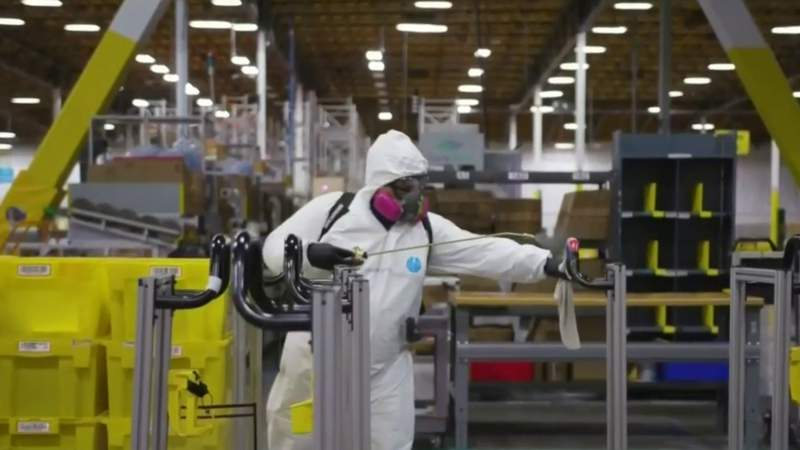Look inside how Amazon facility in Romulus is keeping up with pandemic demands