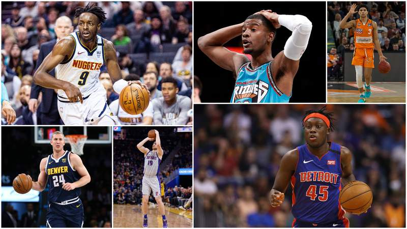 Jerami Grant, Josh Jackson, Killian Hayes, Mason Plumlee, Sviatoslav Mykhailiuk and Sekou Doumbouya are all on the current Detroit Pistons roster (we think).