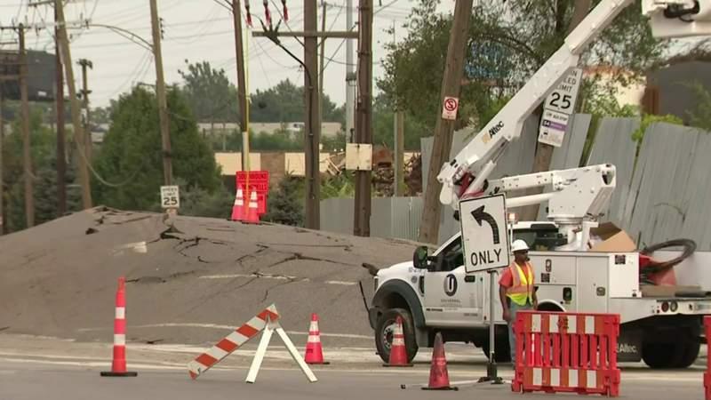 Southwest Detroit damage site on Sept. 13, 2021
