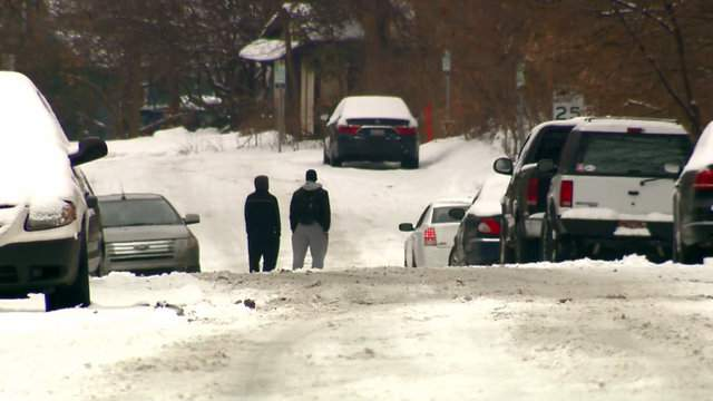 A man was barricaded inside a home Jan. 8, 2018 on Traver Road in Ann Arbor. (WDIV)
