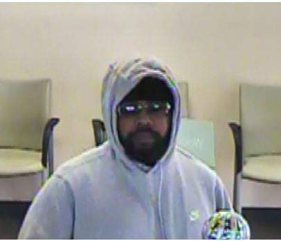 The man wanted for the Huntington Bank robbery.