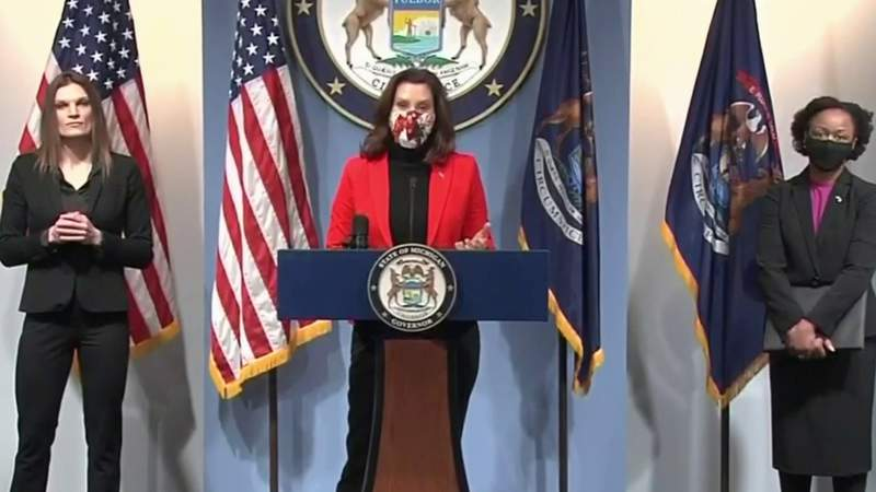 Michigan Gov. Whitmer holds coronavirus briefing, pushes for COVID relief plan