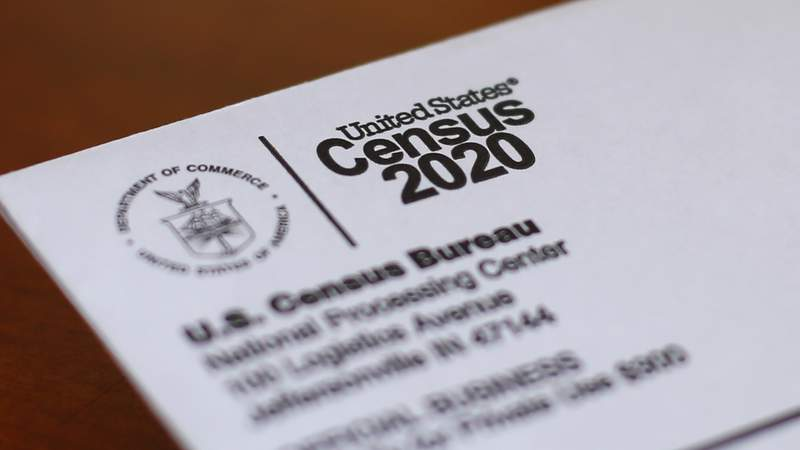 FILE - This April 5, 2020, file photo shows an envelope containing a 2020 census letter mailed to a U.S. resident in Detroit. Michigan's slow population growth over the past decade will cost the state a U.S. House seat, continuing a decades-long trend as job-seekers and retirees have fled to other states. (AP Photo/Paul Sancya, File)
