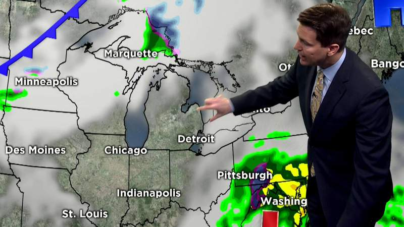 Metro Detroit evening weather forecast on March 24, 2020