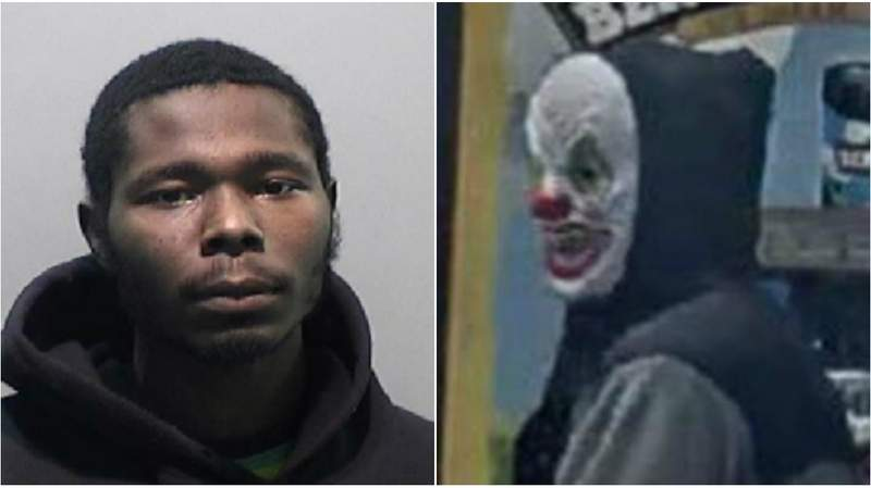 Dravon Jones is accused of wearing a clown mask and fatally shooting a man Oct. 31, 2019, at a Detroit gas station.