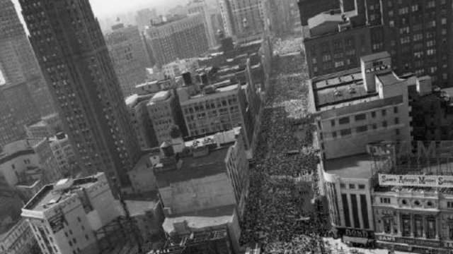 In 1963, King led 125,000+ in the March for Freedom down Woodward Ave in Detroit, pictured here. (Detroit Historical Society)