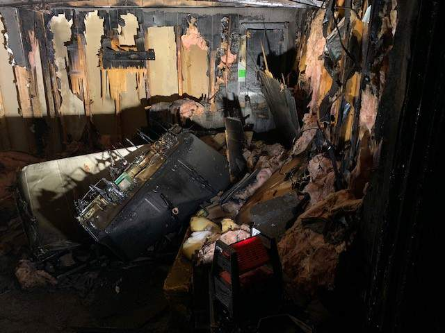 A fire at a building in a senior community in South Lyon has displaced nine residents.
