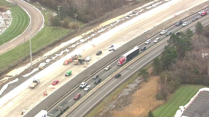 GF Default - Videos shows I-75 construction progress in Oakland County on Nov. 20, 2019