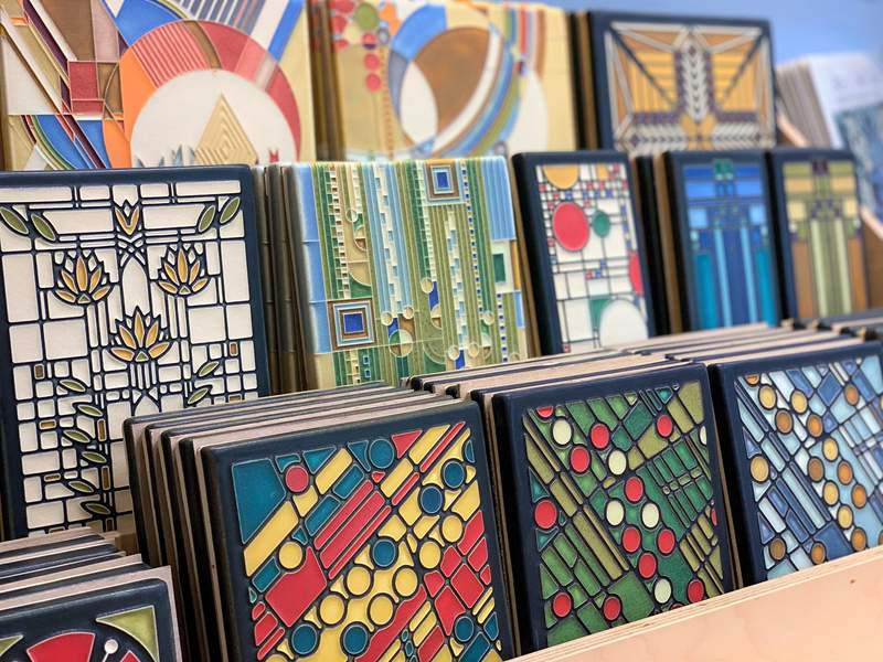Motawi's signature art tiles in its gallery at 170 Enterprise Drive in Ann Arbor.