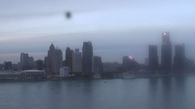 Sunset in Detroit from the Windsor sky camera on Oct. 25, 2018 at 6:31 p.m.