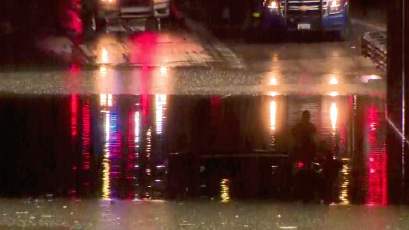 MSP, DNR rescue man stranded in floodwater on Lodge Freeway