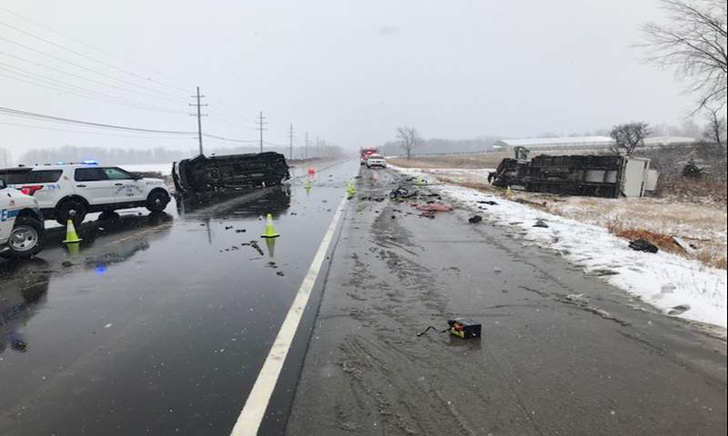 Chesterfield Township police said one man was killed and another injured in a vehicle crash Tuesday, Jan. 26, 2021.
