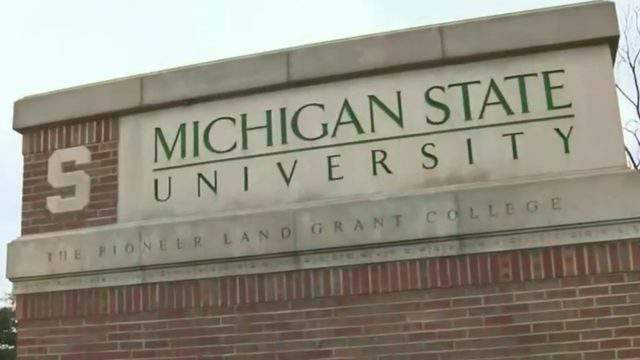 Michigan State University sign. (WDIV)