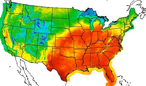 NWS Temp Map for April 27, 2021.