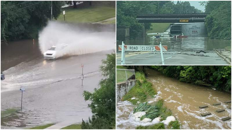 Pictures of the flooding around Metro Detroit on June 26, 2021.
