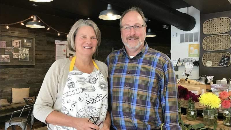 Argus Farm Stop owners Kathy Sample and Bill Brinkerhoff on Oct. 10, 2017 (Photo: Meredith Bruckner)