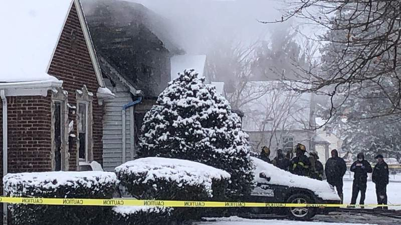 Two children died in a house fire in Detroit on Christmas morning.