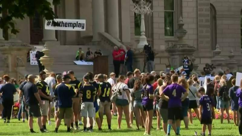 'Let Them Play' school sports rally held in Lansing