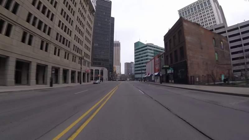 VIDEO: Downtown Detroit eerily empty during coronavirus outbreak